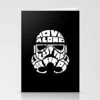 Stormtrooper In Typograp… Stationery Cards