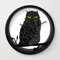 Night Owl V. 2 Wall Clock