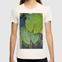 Water Lilies Womens Fitted Tee Natural SMALL