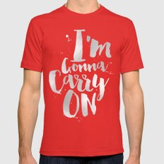 I'm gonna carry on Mens Fitted Tee Red SMALL