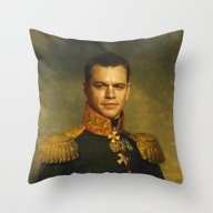 Throw Pillow featuring Matt Damon - Replaceface by Replaceface