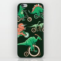 Dinosaurs On Bikes! iPhone & iPod Skin