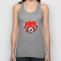 Red Panda (White) Unisex Tank Top
