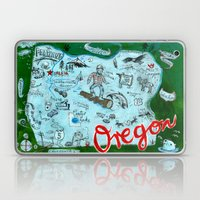 Map Of Oregon Laptop & iPad Skin