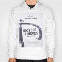Bicycle Thieves - Movie Poster for De Sica's masterpiece. Neorealism film, fine art print. Hoody