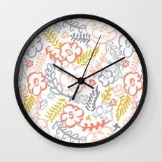 Floral Brush Wall Clock