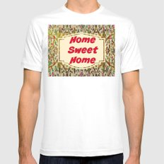 Stained Glass Home Sweet Home  SMALL Mens Fitted Tee White