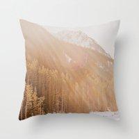 Sun Shining Through The … Throw Pillow