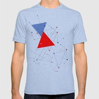 knot Mens Fitted Tee Tri-Blue SMALL