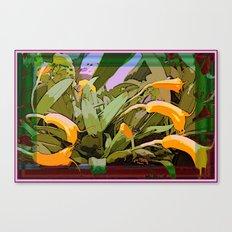 Orchids Tangerine Canvas Print