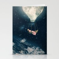 The Moon Carries Me Away Stationery Cards