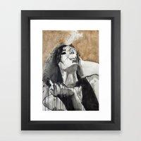 Her Life Had Schooled He… Framed Art Print