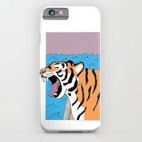iPhone & iPod Case featuring Tiger Yawn by Deesign