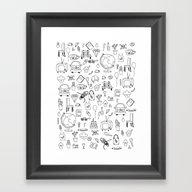 Just Things, Just Ink Framed Art Print