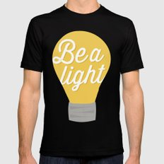 Be a light to the world Black SMALL Mens Fitted Tee