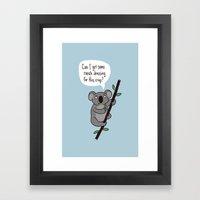 Koala Question Framed Art Print