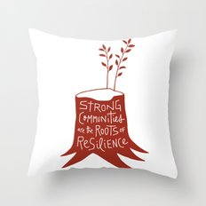 Roots of Resilience Throw Pillow