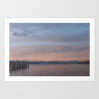 Starnbergersee At Dawn Art Print