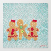 Gingerbread Peeps Canvas Print