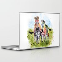 zebra Laptop & iPad Skins featuring Zebra by Anna Shell