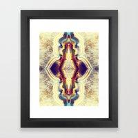 Petrified Flower Framed Art Print