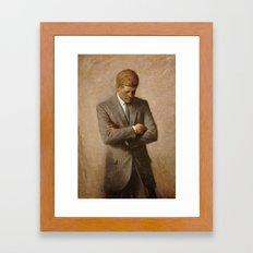 John F. Kennedy Portrait Framed Art Print