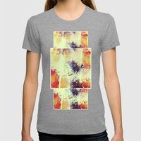 Slow Burn Womens Fitted Tee Tri-Grey SMALL
