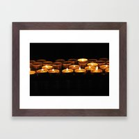 Candle Framed Art Print