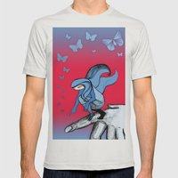 Dragonfly Mens Fitted Tee Silver SMALL
