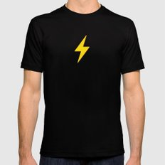 Fast Flash Black SMALL Mens Fitted Tee