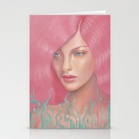 Pink Waves Stationery Cards