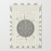 Aztec Calendar Stone Canvas Print