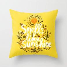 Smells Like Sunshine Throw Pillow