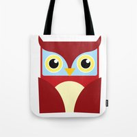 The Red Owl. Tote Bag