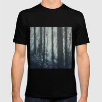 Glass Light Forest Mens Fitted Tee Black SMALL