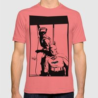 YEAR ONE Mens Fitted Tee Pomegranate SMALL