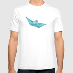 High Seas   Origami   Simplified SMALL Mens Fitted Tee White