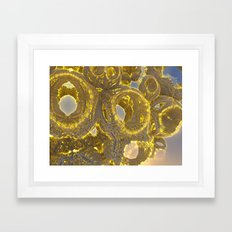 Golden Abstraction Framed Art Print
