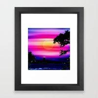 Evening sun on the coast. Framed Art Print