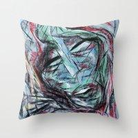 Chalk Face Throw Pillow