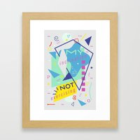 Cautious Potato Framed Art Print