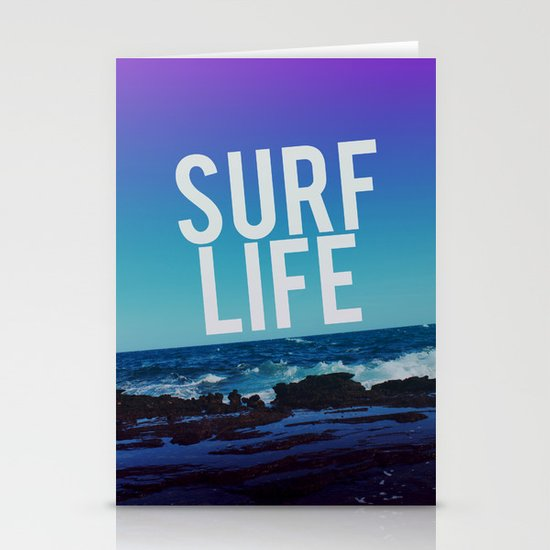 Surf Life Stationery Card