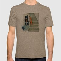 Denied Attention Mens Fitted Tee Tri-Coffee SMALL