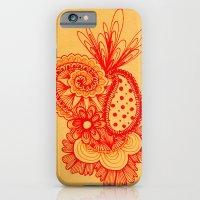 Red Arabesque iPhone 6 Slim Case