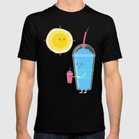 Cool Treat to Beat the Heat Mens Fitted Tee Black SMALL