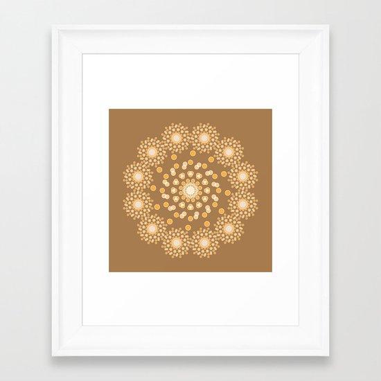 Atom B4 - Brown Framed Art Print