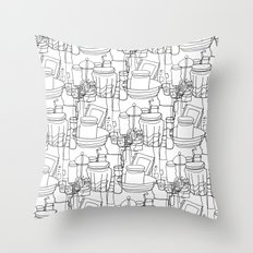 Inside a Kitchen Cupboard Throw Pillow