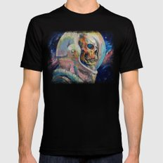 Astronaut Mens Fitted Tee Black SMALL