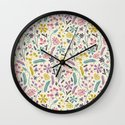 Retro Blooms (Candy) Wall Clock