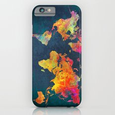 World Map blue iPhone 6 Slim Case